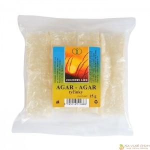 Agarové tyčinky - Agar-agar je přírodní želatina vyráběná z osmi druhů červených řas a používá se do krémů, polev, aspiků a na zdobení dortů.